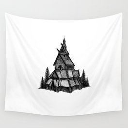 Borgund Stave Church Wall Tapestry