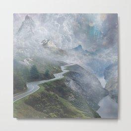 Misty Road Metal Print