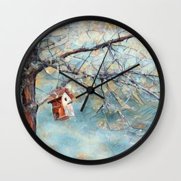A Chickadees Home Wall Clock