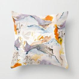 marmalade mountains Throw Pillow