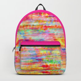 Light Rainbow Tie Dye Stripes Backpack