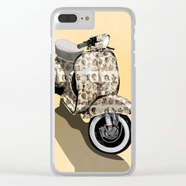 Vespa Tattoo Oldstyle Clear iPhone Case