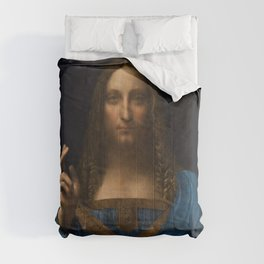 Leonardo da Vinci - Salvator Mundi - Digital Restored Edition Comforters