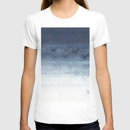 Birds in blue T-shirt