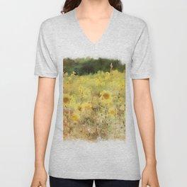 Field of Sunflowers Unisex V-Neck