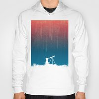 astronomy Hoodies featuring Meteor Rain (light version) by Picomodi