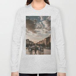 Wenceslas Square in Prague (Czech Republic) Long Sleeve T-shirt