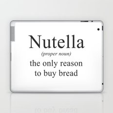 NUTELLA - CHOCOLATE - DEFINITION - FUNNY Laptop & iPad Skin