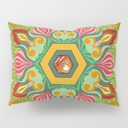 Swirls of Flowers and Lace Pillow Sham