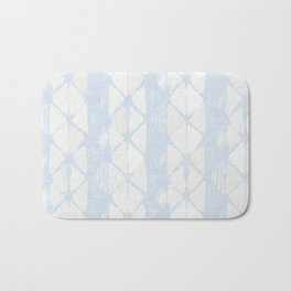 Simply Braided Chevron Sky Blue on Lunar Gray Bath Mat