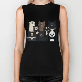 Bear family portrait Biker Tank
