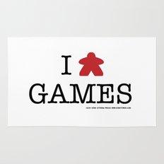 I Meeple Games Rug