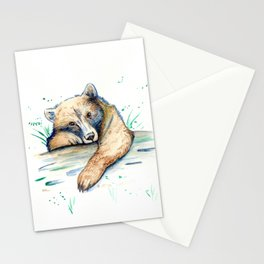 Baby Bear Watercolor Stationery Cards