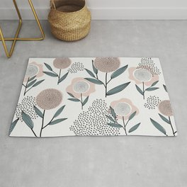 Retro Floral Pattern 1 Rug