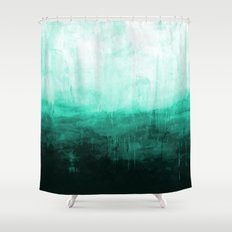Paint 8 abstract minimal modern water ocean wave painting must have canvas affordable fine art Shower Curtain