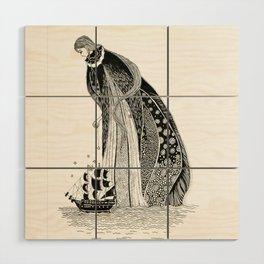 Gothic Sea Goddss Wood Wall Art