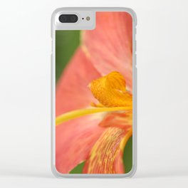 Canna flower Clear iPhone Case