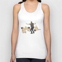 pugs Tank Tops featuring Jurassic Pugs by The Pug Shop