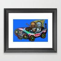 A trip by car Framed Art Print