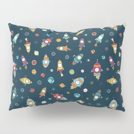 Rocket ships in space Pillow Sham