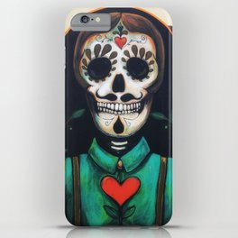 Love Always and Forever // Sugar Skull Day Dead Dia Muertos Creepy Cute Skeleton iPhone Case