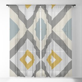 Mid West Geometric 04 Sheer Curtain
