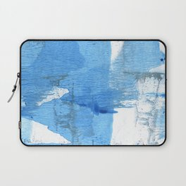 Corn flower blue hand-drawn wash drawing paper Laptop Sleeve