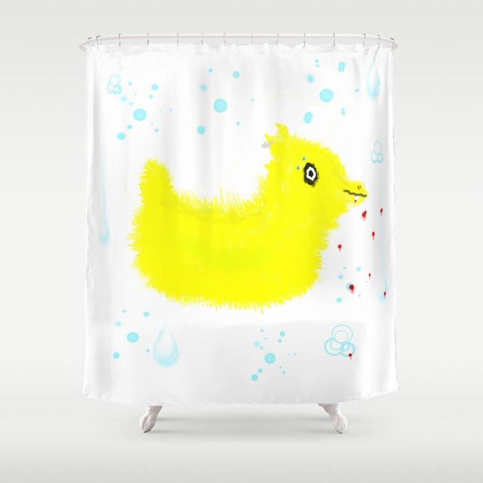 Badass Rubber Ducky Shower Curtain