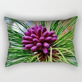 Purple Pine Cones Rectangular Pillow