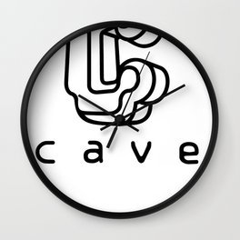 Cave Co. Black Wall Clock