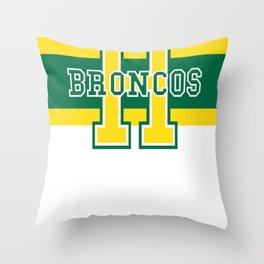 Humboldt Broncos Throw Pillow