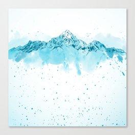 watercolor mountains Canvas Print