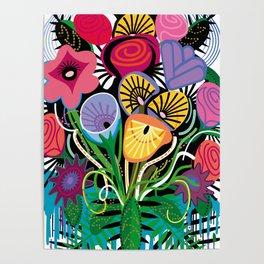 Flamenco Tequila Floral Arrangement Poster