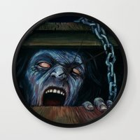 evil dead Wall Clocks featuring THE EVIL DEAD by chris zombieking