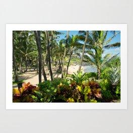 Kuau Beach Cove Paia Maui Hawaii Art Print