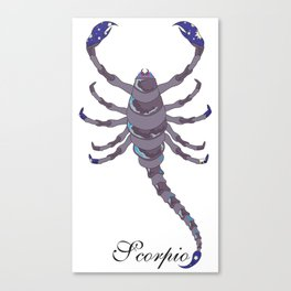 Starlight Scorpio Canvas Print