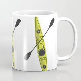 Kayak - Lime Green Coffee Mug