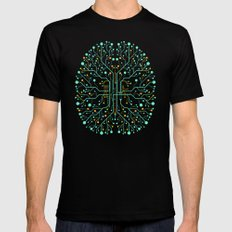 Brain Tech LARGE Mens Fitted Tee Black