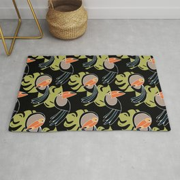 Toucan Up and Down Rug