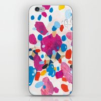 physics iPhone & iPod Skins featuring Fuchsia Physics by Emily Rickard