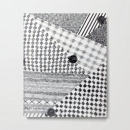 Layer & Texture Metal Print