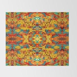 Abstract Fur Kaleidoscope Throw Blanket