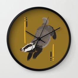 Meles meles for loyalty Wall Clock