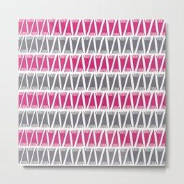Tee Pee Pink Yarrow Metal Print