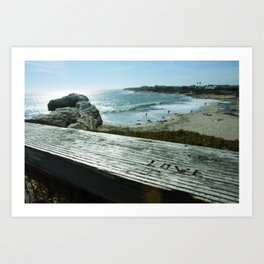 Love is All You Need and the Beach Art Print
