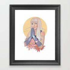She Prayed for Infinity Framed Art Print
