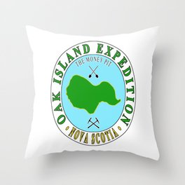 Oak Island Money Pit Expedition Throw Pillow
