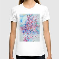 cherry blossom T-shirts featuring Cherry blossom by Maria Lozano - Art