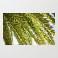 palms Area & Throw Rugs featuring Palms by Claire Jantzen