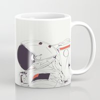 god Mugs featuring GOD IS AN ASTRONAUT by CranioDsgn